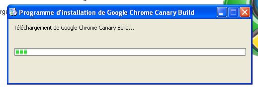 Installation Chrome Canary Build