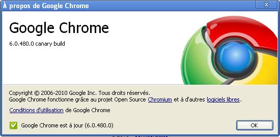 Chrome dev Canary build