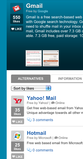 AlternativeTo Gmail