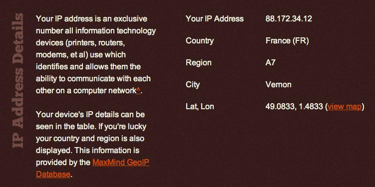 Adresse IP et Géolocalisation