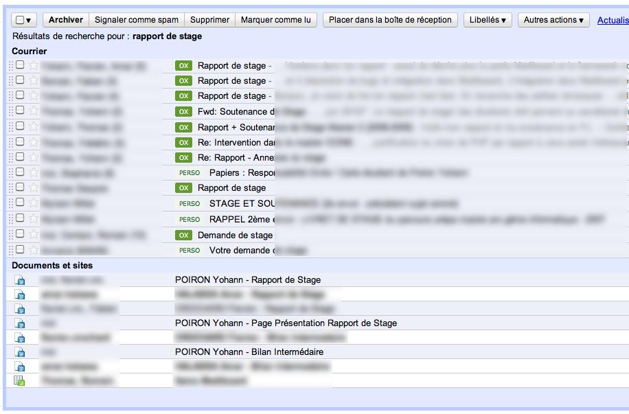 Apps Search - Exemple de recherche