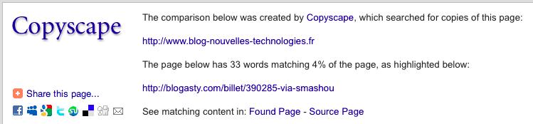 Copyscape sur https://www.blog-nouvelles-technologies.fr