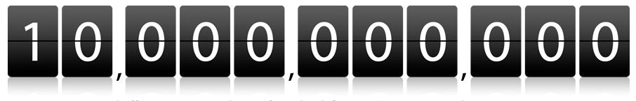 Affichage du compteur 10 milliards à la façon Apple