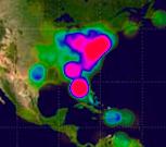 Affichage en mode chaleur de la vue satellite