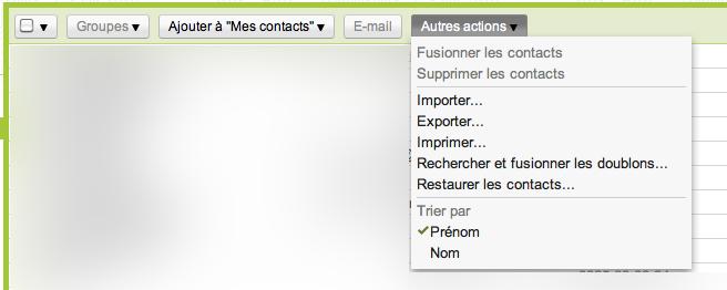 Gmail invente son propre TimeMachine pour vos contacts - Autres actions