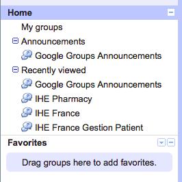 Google Groups : problème rencontré