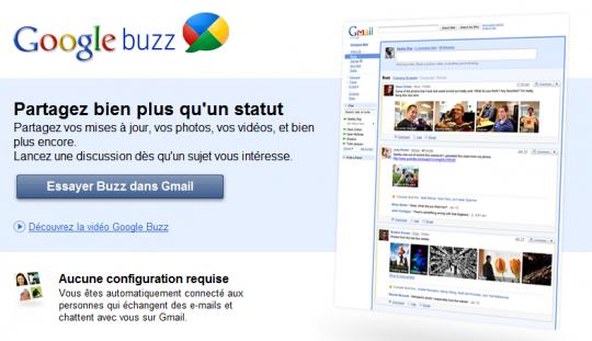 Top 10 des applications Google (Google Apps) en 2010 - Google Buzz