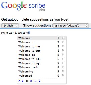 Top 10 des applications Google (Google Apps) en 2010 - Google Scribe
