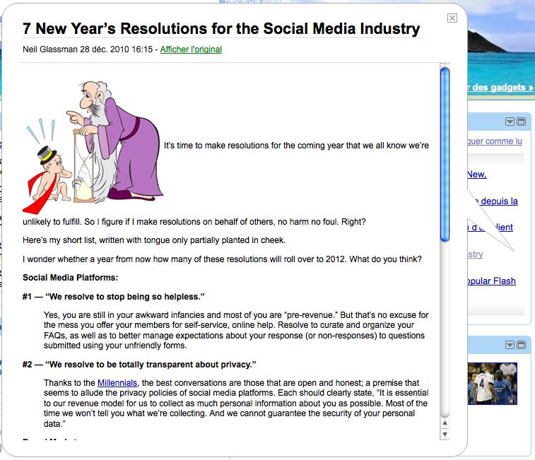 Sondage : Pour ou contre de tronquer un article pour un flux RSS ? - Affichage d'un flux RSS dans Google Reader