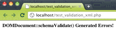 Validation d'un document XML à l'aide d'un schéma XSD en PHP - Test de la validation sur un serveur Web