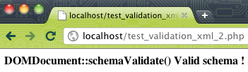 Validation d'un document XML à l'aide d'un schéma XSD en PHP - Test de la validation sur un serveur Web - Document XML valide