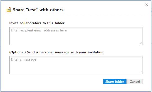 Partage de dossier dans Dropbox