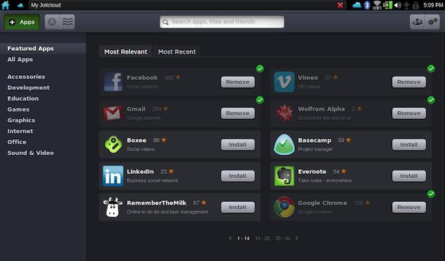 5 systèmes d'exploitation orientés Cloud disponibles dès maintenant - Jolicloud - My Jolicloud