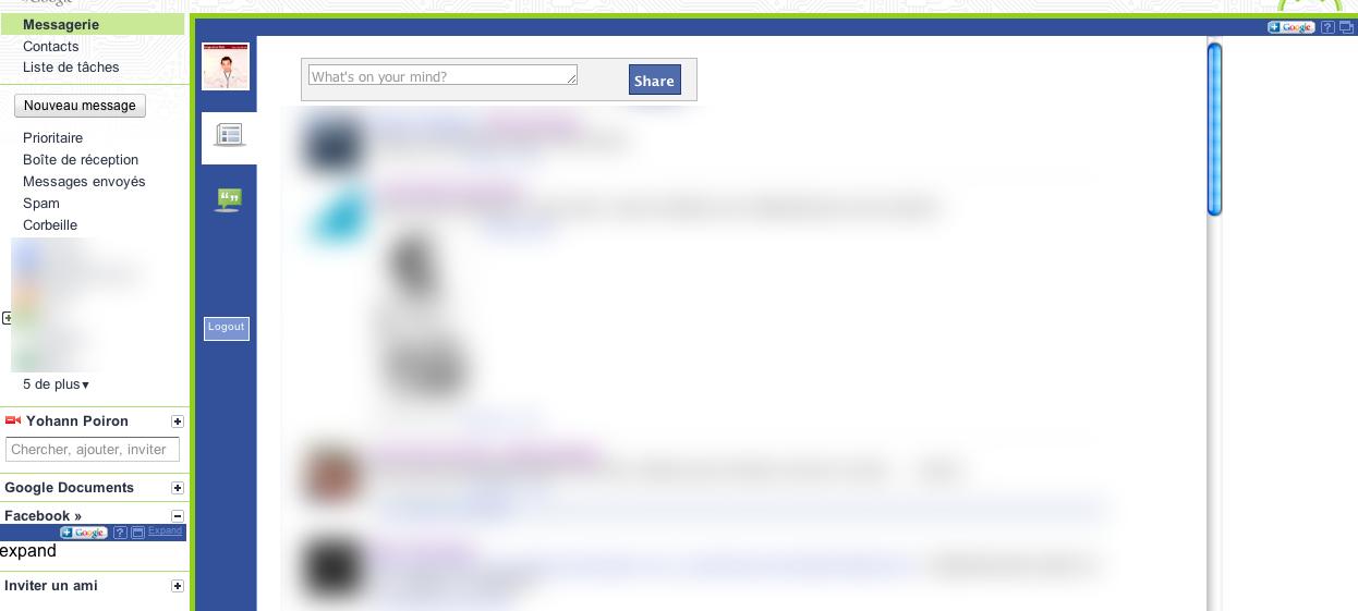 Vous voulez intégrer Facebook dans Gmail ? Désormais c'est possible - Facebook dans Gmail