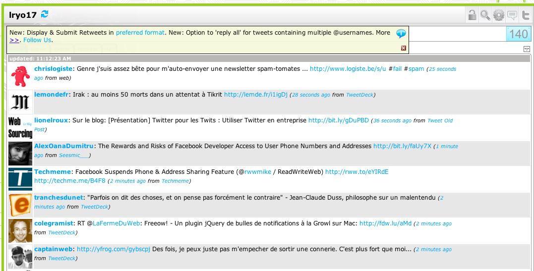 Vous voulez intégrer Facebook dans Gmail ? Désormais c'est possible - Twitter dans Gmail