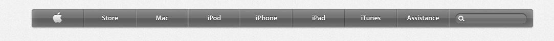 Le site d'Apple reçoit un lifting HTML5 - Nouvelle barre de navigation