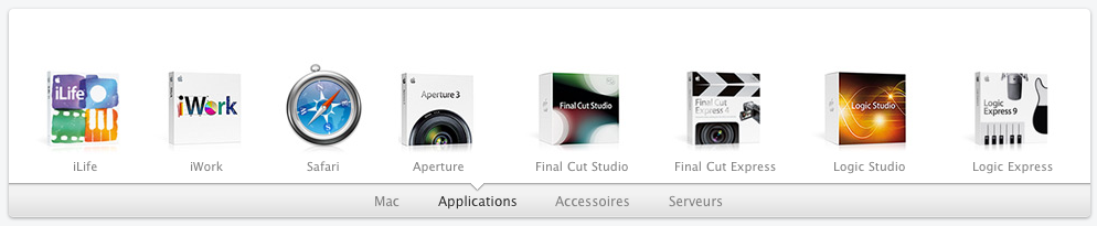 Le site d'Apple reçoit un lifting HTML5 - Transition des produits dans une catégorie