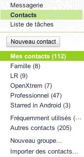 Deux améliorations pour contacter des groupes sur Gmail - Nouveau groupe
