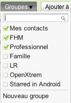 Deux améliorations pour contacter des groupes sur Gmail - Sélection du groupe