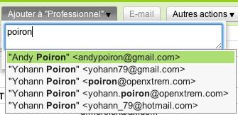 Deux améliorations pour contacter des groupes sur Gmail - Ajouter des contacts aux groupes