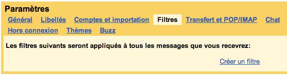 Pour un compte Gmail, plusieurs adresses mail disponibles - Créer un filtre