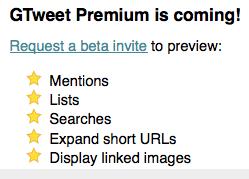 GTweet vous permet de lire votre timeline Twitter dans Google Reader - Options premium