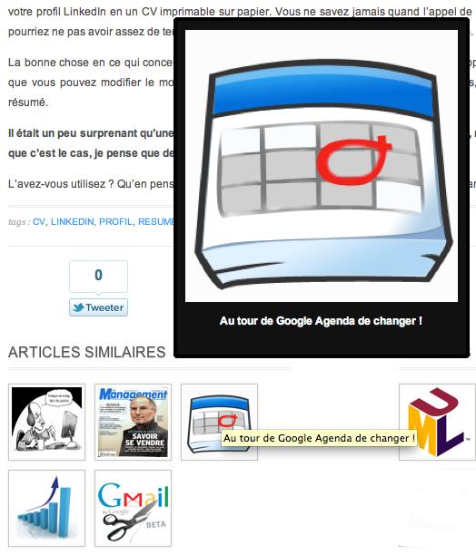 Mise à jour du design du blog des nouvelles technologies - Affichage en images des articles similaires