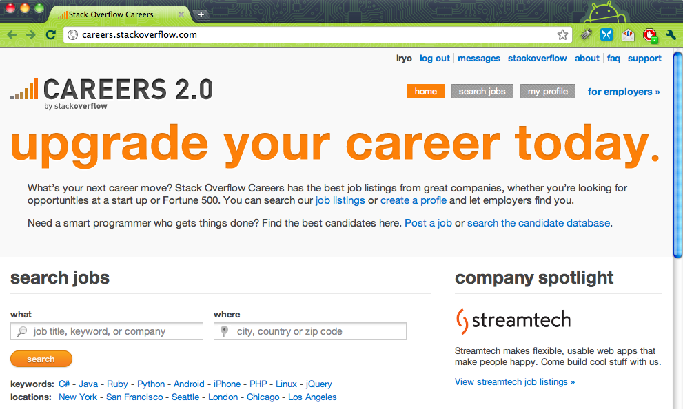 Lancement de Stack Overflow Careers 2.0