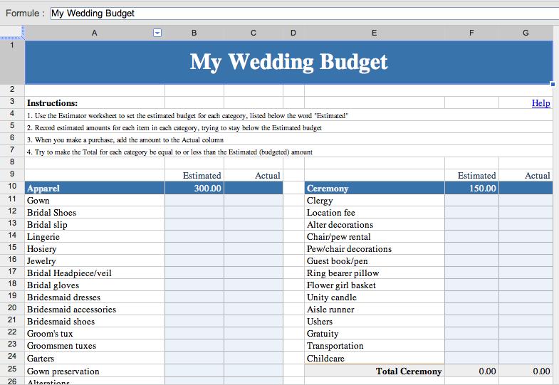 Un mariage en perspective ? Faite appel à Google ! - Budget du mariage