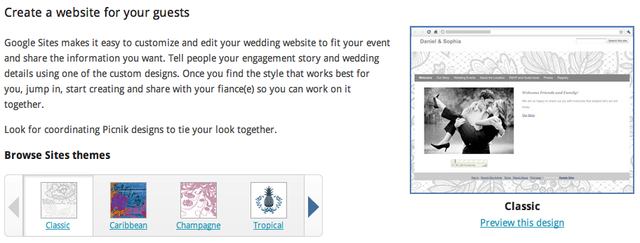 Un mariage en perspective ? Faite appel à Google ! - Google Sites