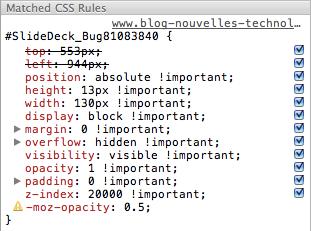 Chrome Developer Tools : Retour sur l'essentiel - Affichage des propriétés erronées  et spécifiques des navigateurs