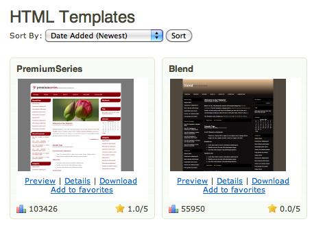 Comment faire pour utiliser Dropbox et héberger gratuitement un site Web - Listing du template