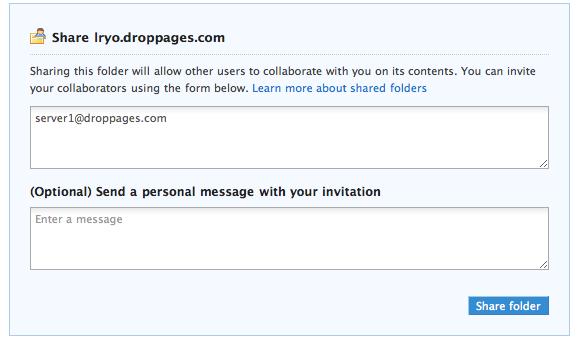 DropPages vous permet de créer un site Web à l'aide de votre compte Dropbox, avec zéro compétences HTML - Partage vers droppages