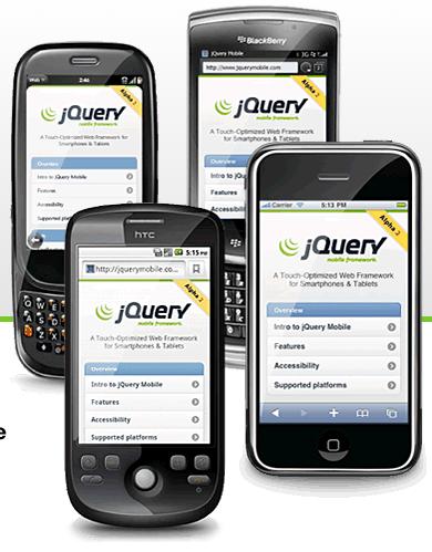 Les technologies Web et les tendances à surveiller en 2011 - jQuery Mobile