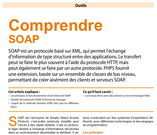 PHP Solutions : Mars 2011 - Comprendre SOAP
