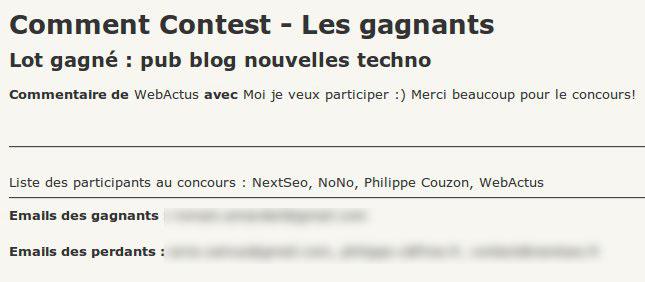 Viens toi aussi gagner le dernier encart sur le blog des nouvelles technologies - Résultat du concours commentaires de MyEShop