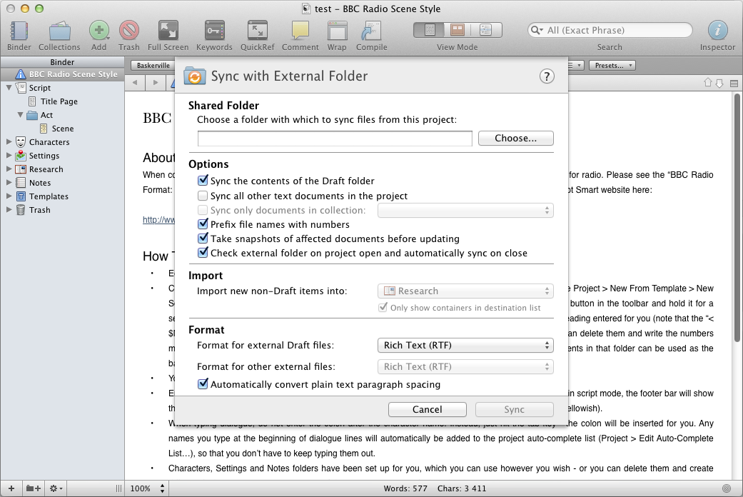 12 applications Mac pour synchroniser vos données via votre Dropbox - Scrivener