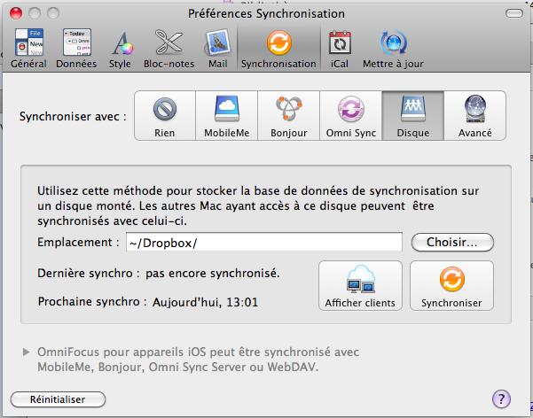 12 applications Mac pour synchroniser vos données via votre Dropbox - OmniFocus