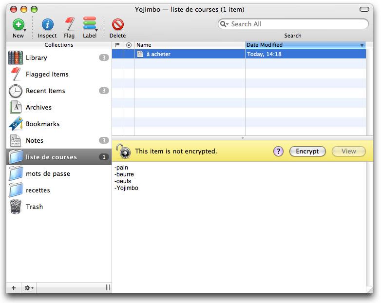 12 applications Mac pour synchroniser vos données via votre Dropbox - Yojimbo