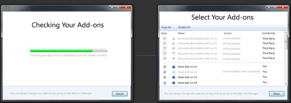Firefox 5, 6 et 7: L'avenir du navigateur sur les tablettes et les téléphones ainsi que de nouvelles fonctionnalités - Améliorations des extensions