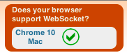 HTML5 WebSockets, le successeur du protocole HTTP ? - Validité des websockets de Chrome sous MacOSX
