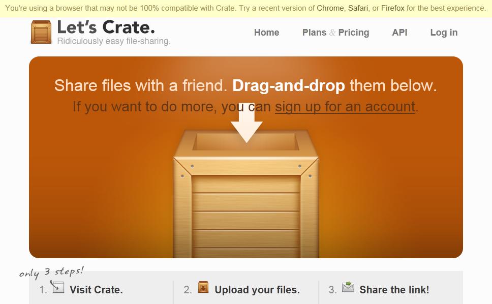 Trois nouvelles et superbes façon de partager des fichiers en ligne - Incompatibilité IE9