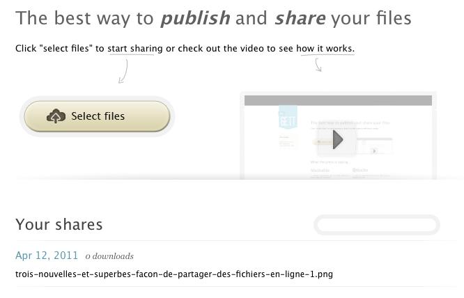 Trois nouvelles et superbes façon de partager des fichiers en ligne - Ge.tt téléchargement d'un fichier