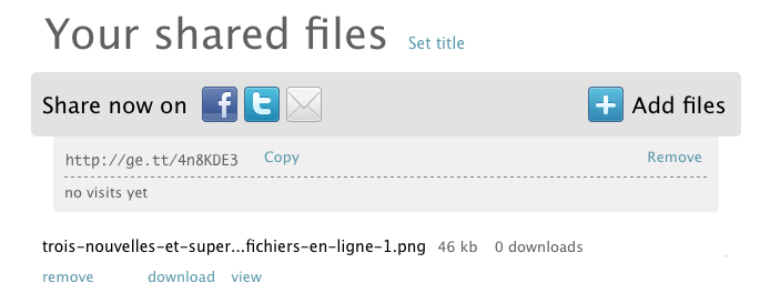 Trois nouvelles et superbes façon de partager des fichiers en ligne - Lien de partage d'un fichier