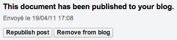 Utilisez Google Docs pour publier des articles sur votre blog - Publication de l'article dans WordPress