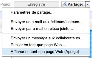 Utilisez Google Docs pour publier des articles sur votre blog - Aperçu en page Web dans Google Docs