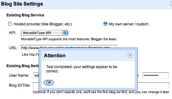 Utilisez Google Docs pour publier des articles sur votre blog - Test de publication sur plateforme WordPress