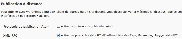 Utilisez Google Docs pour publier des articles sur votre blog - Configuration d'XML-RPC dans WordPress