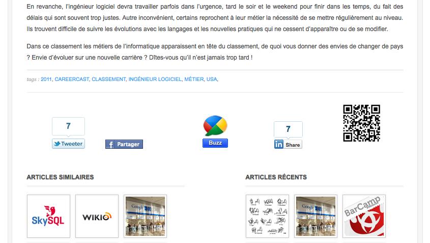Ajoutez des QR Codes à votre blog WordPress pour faciliter sa visibilité - QR Code dans l'article