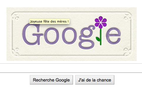 Bonne fête maman ! Doodle fête des mères sur Google